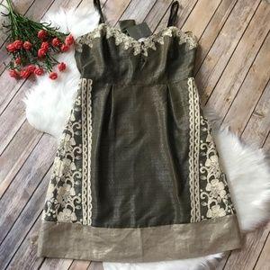 NWT Moulinette Soeurs Anthropologie Green Dress 12